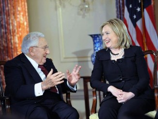 Hillary Clinton and Henry Kissinger