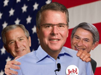 Jeb 2016! With George W. Bush and Paul Wolfowitz